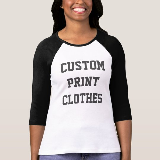 Women's Custom Bella 3/4 Sleeve Raglan T-shirt