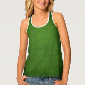 Women's Deep Green Textured Fall Tank Top