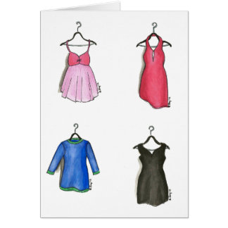Women's Dresses Notecards Greeting Card