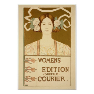 'Women's edition Buffalo Courier' Poster