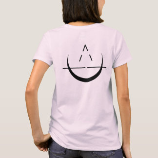 Women's ELOSIN Name with Moon Symbol Pink T-Shirt