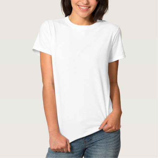 White Embroidered Women's Embroidered Basic T-Shirt