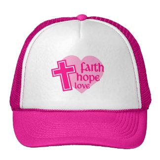 Womens Faith Hope Love Hat