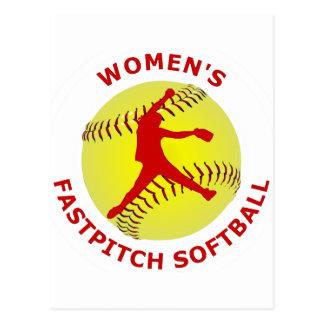 Women's Fastpitch Softball Postcard