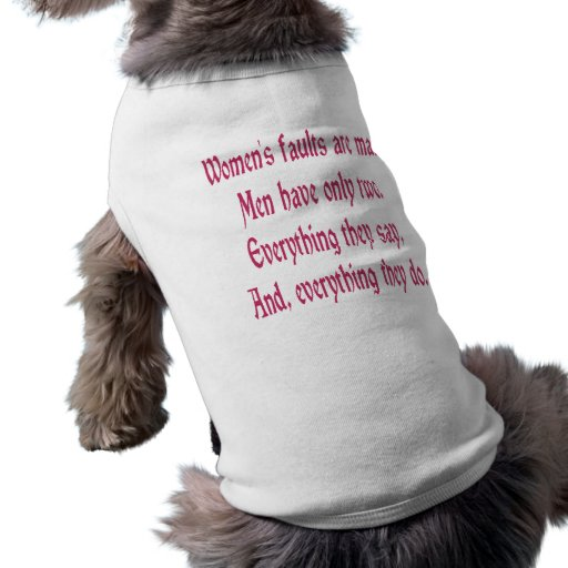 Women's Faults Are Many Dog Tee