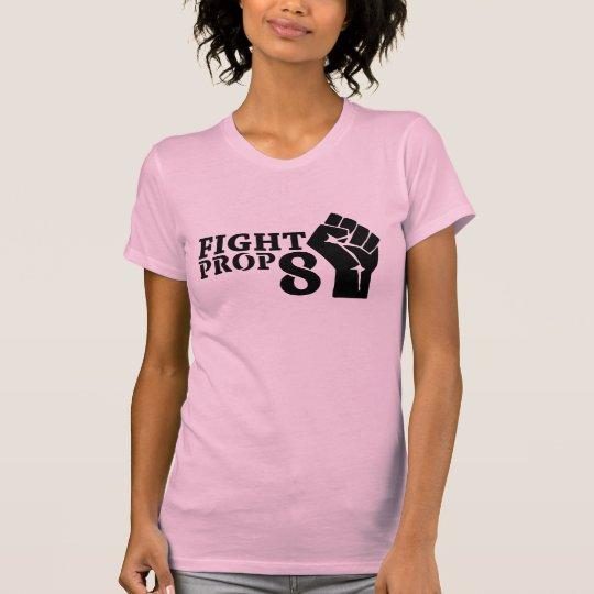 Women's Fight Prop 8 Fist T-Shirt