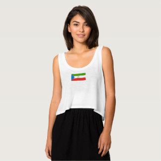 Womens Flag of Equatorial Guinea Tank Top