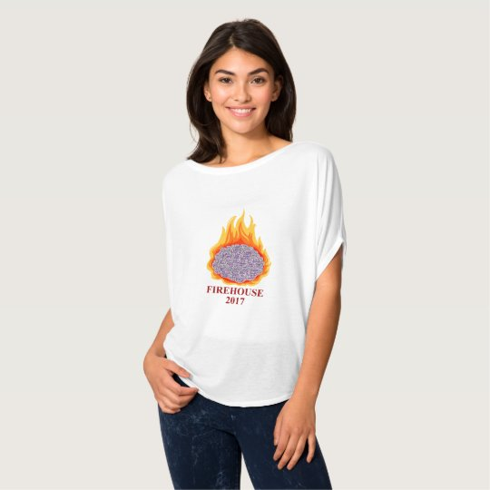 Women's Flaming Brain AMFirehouse Flowy T-Shirt