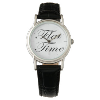 Womens Flat Time Classic Wristwatch