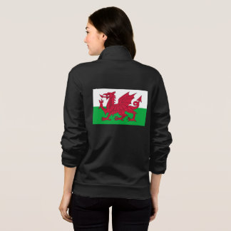 Women's  Fleece Jogger with flag of Wales