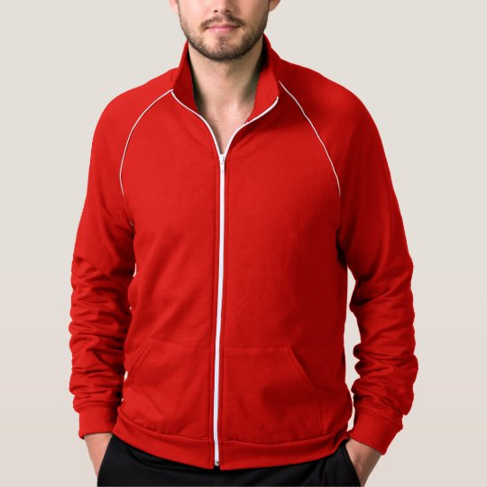 Women's Fleece Raglan Zip Hoodie Sweatshirt Red