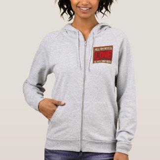 Women's Fleece Sleeveless Zip Hoodie MADE IN USA