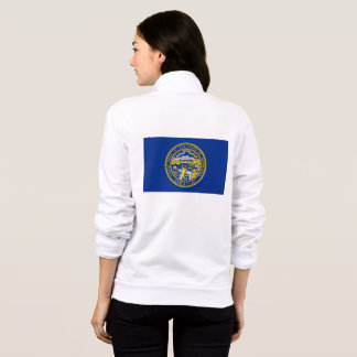 Women's  Fleece Zip Jogger flag of Nebraska, USA