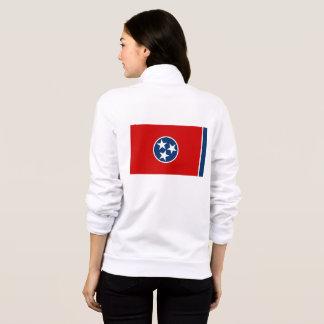 Women's  Fleece Zip Jogger flag of Tennessee