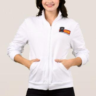 Women's Fleece Zip Jogger (white) -