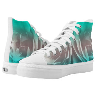 Women's Floral Art Hightop Sneakers