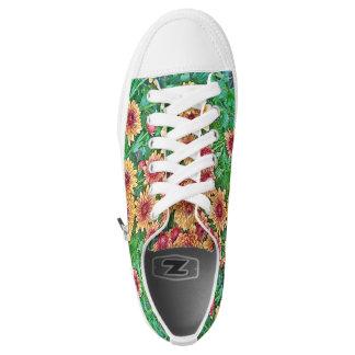 Womens Flower Design Sneakers