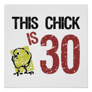 Women's Funny 30th Birthday Posters