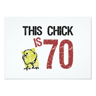 Women's Funny 70th Birthday 13 Cm X 18 Cm Invitation Card