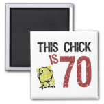 Women's Funny 70th Birthday Square Magnet