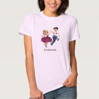 Women's Funny Retro Fag Hag T-shirts