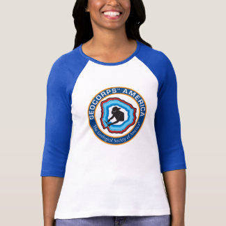 Women's GeoCorps America 3/4 Sleeve T-Shirt
