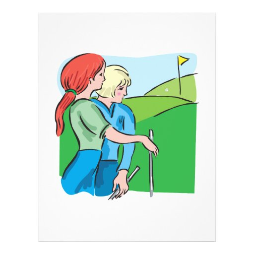 Womens Golf Personalized Flyer