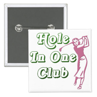 Womens Golf Hole in One Memento 15 Cm Square Badge