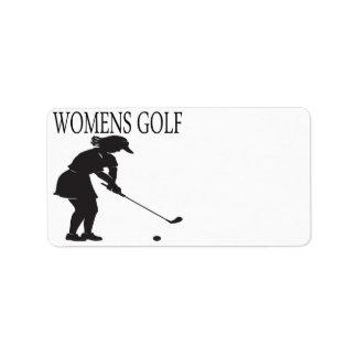 Womens Golf Label