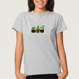 Women's Gray Cacti Triplets Tee