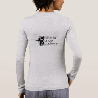 Women's Gray Long Sleeve T-Shirt with Black Logo