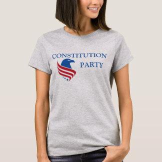 Women's Gray T, Text Front T-Shirt
