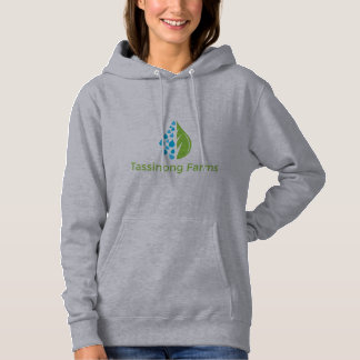 Women's Grey Hoodie Sweatshirt - Tassinong Farms