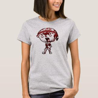 Womens Grey ZLB red Shirt (web add on back)