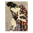 Womens Hairdressing Utamaro Yuyudo Ukiyo-e Art Postcard