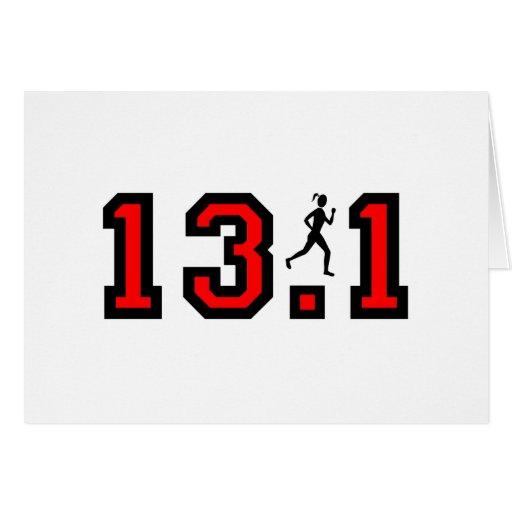 Womens half marathon card