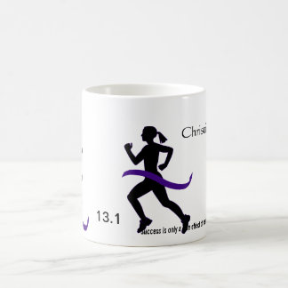 Women's Half Marathon Purple Ribbon Coffee Mug