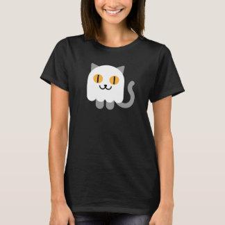 Women's Halloween T-shirt: Ghost Cat T-Shirt