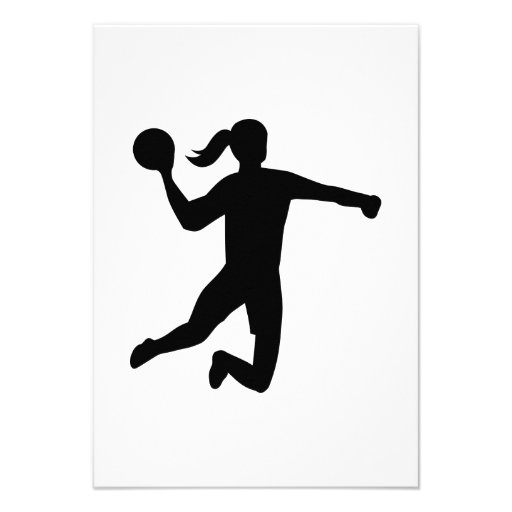 Womens handball custom announcement