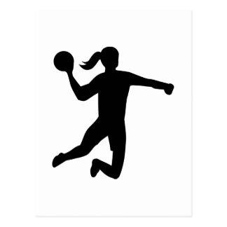 Womens handball postcard