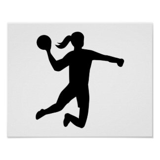 Womens handball poster