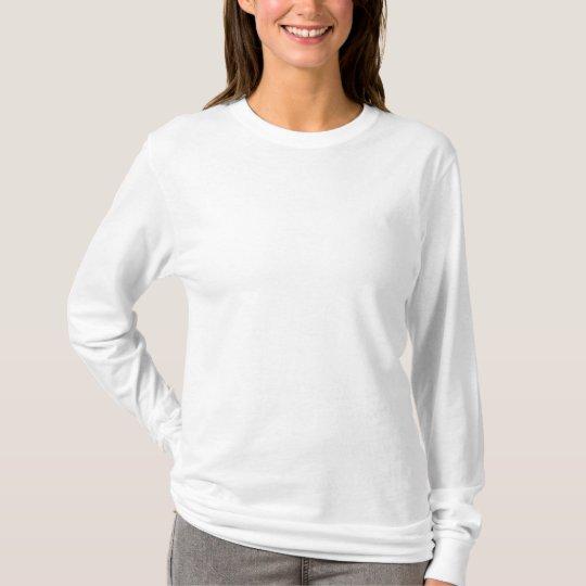 Women's Hanes Nano Long Sleeve T-Shirt, White T-Shirt