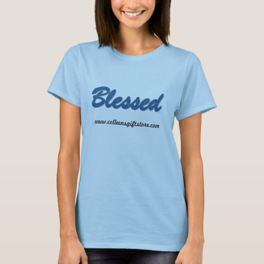 Women's Hanes T-Shirt_ Blessed T-Shirt