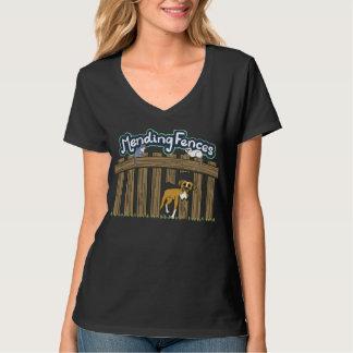 Women's Hanes V-Neck T-Shirt, Black T-Shirt