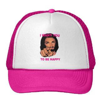 Womens Happy Jesus Hat