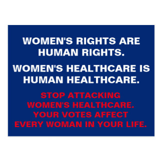 Women's Health Care is Human HealthCare Postcard