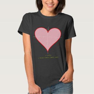 Women's heart equation dark shirt