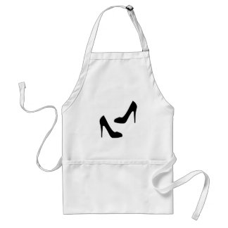 Womens High Heel Shoes in Silhouette Standard Apron