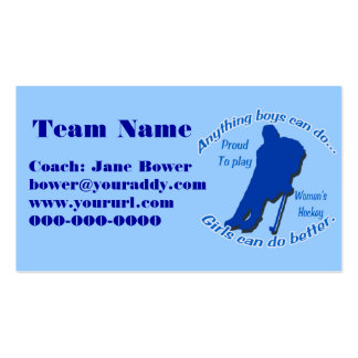 Women's Hockey Business Card