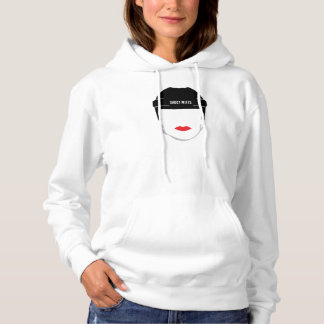 Women's Hockey Helmet Face Lips Hoodie